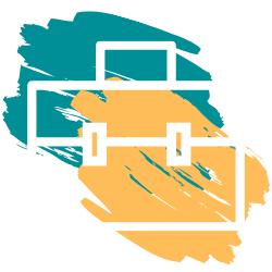Adorno con colores logo (maletín)