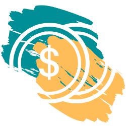 Adorno con colores del logo (dólar)