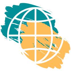 Adorno con colores logo (bola terráquea)